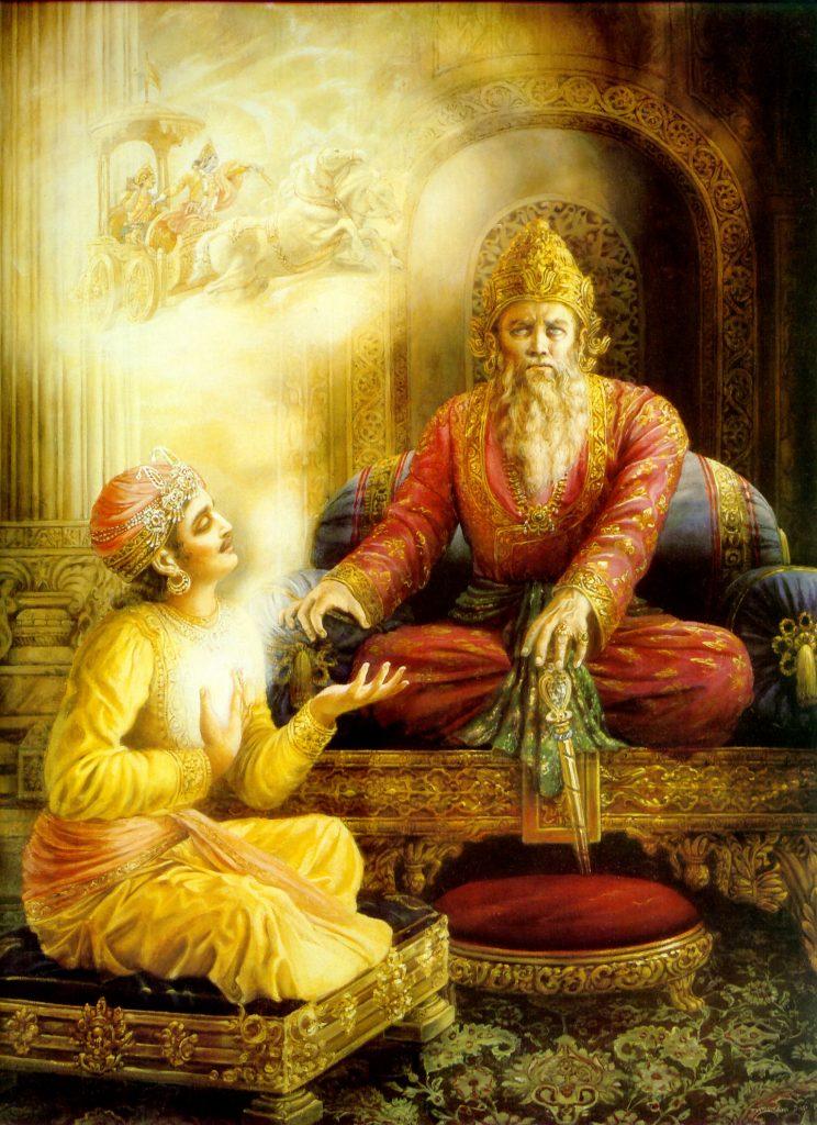 Sanjaya speaks to Dhritarastra_- Image Courtesy - BBT International