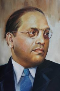 Photo Credit: Oil painting of Dr. B.R. Ambedkar by artist Rajasekharan Parameswaran